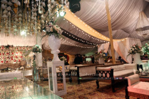 multicolor draping, indoor event