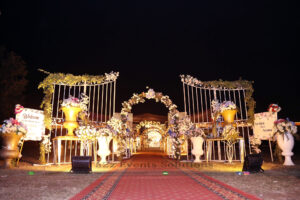 grand entrance, outdoor event