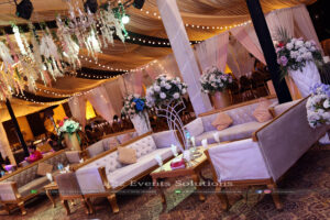 vip lounges, draping