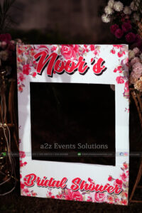 selfie booth, customized props