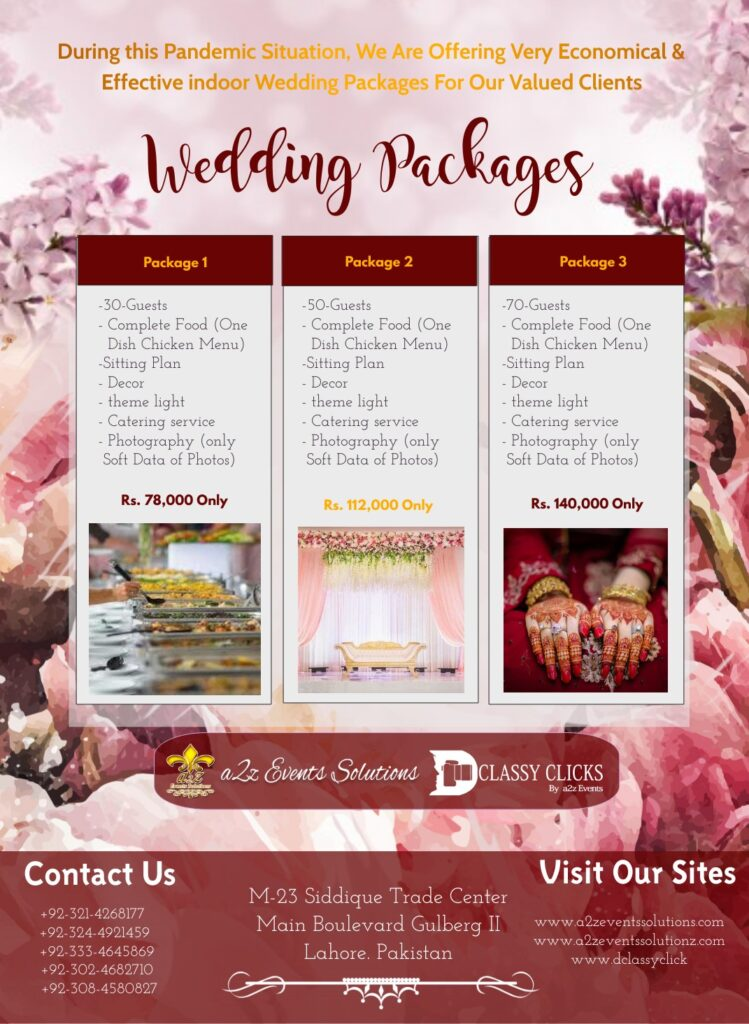covid wedding packages, economical wedding packages with chicken, covid wedding package with chicken